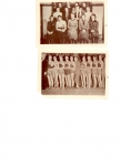 1938 - Girls club - top  1932 - Boys Basketball