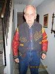 Another shot of Ron Good wearing his senior jacket. Ron you're still in good form!