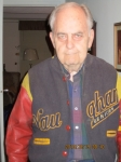 A close-up of Ron Good, wearing his senior jacket.