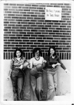 No ball playing in the smoke-stack area: Jo Lampert, Katie Pellizzari, Elizabeth Cinello, 1977