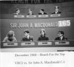 VRCI Grade 13 is on live TV, 1968.